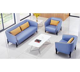 蓝色真皮沙发,Sofa ckf-sf0